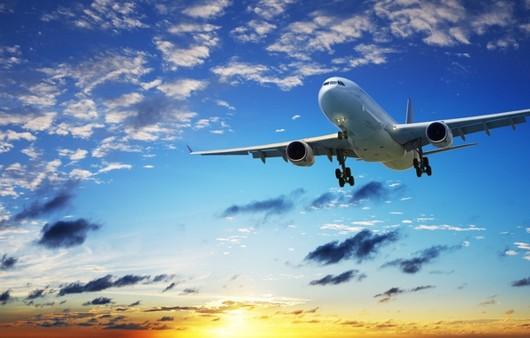 Фотообои Самолет на синем небе