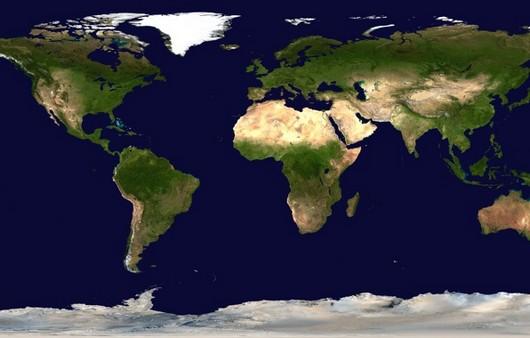Карта материков
