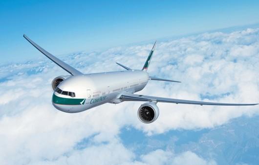 Фотообои Самолет на облаками
