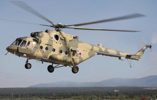 Многоцелевой вертолёт Ми-8 в полёте