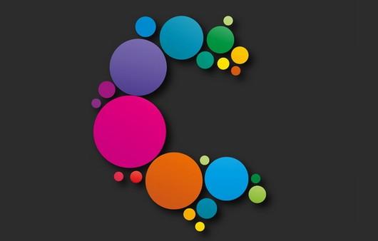 Орнамент из цветных кружков