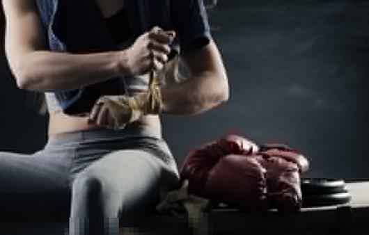 Фотообои Девушка боксера