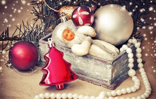 Старинные рождественские украшения