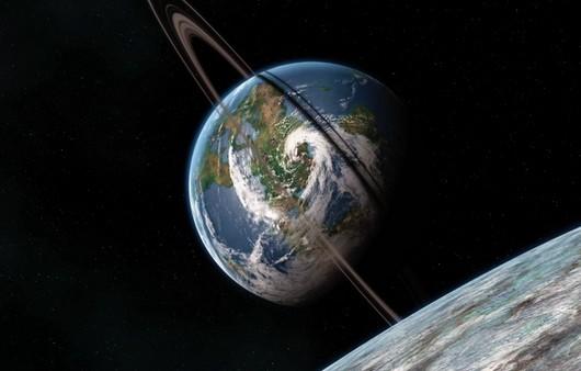 Фотообои Неопознанный космос планеты с орбитами