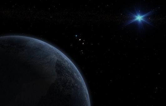 Неопознанный космос планеты с орбитами