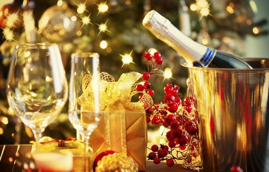 Фотообои Сервировка новогоднего стола