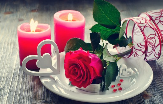 Фотообои Романтический ужин при свечах