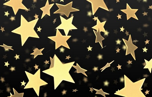 текстура золотых звёзд на чёрном