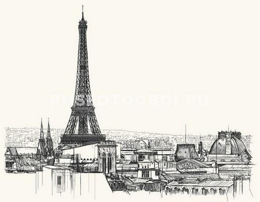 Париж на белом фоне
