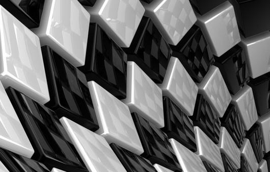 Текстура чёрно белой клетки