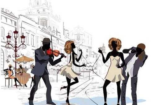 Рисунок уличных танцев