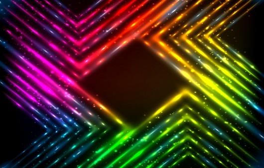 Абстракция цветных неоновых трубок