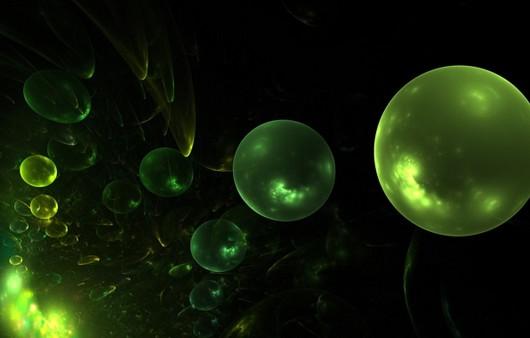 Абстракция из зелёных шаров
