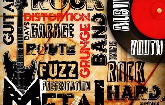 Фотообои Музыкальный плакат