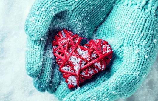 сердечко в рукавичках