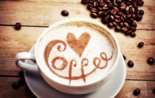 Кофе с пенкой и надписью