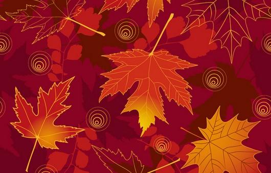 Фотообои текстура осенние листья
