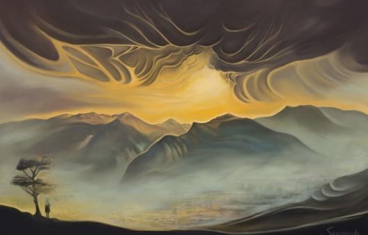 Живописная картина гор