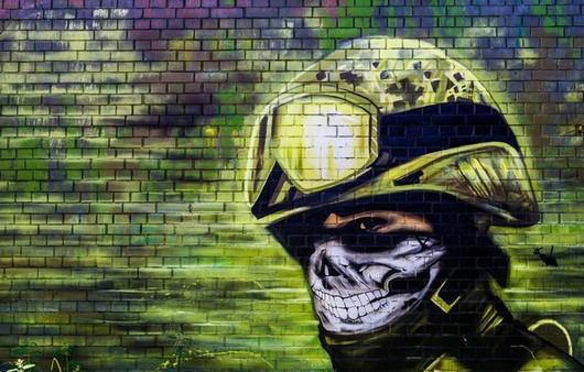Арт рисунок смерти в шлеме