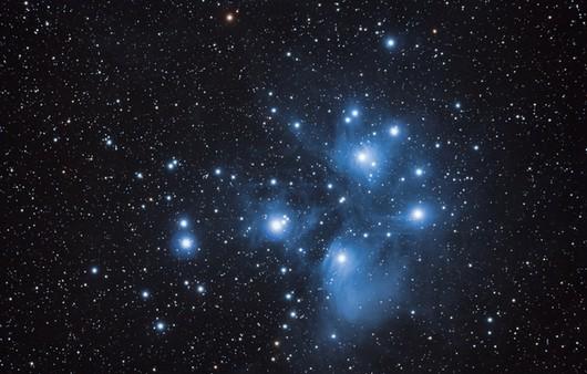 Плеяды в созвездии тельца