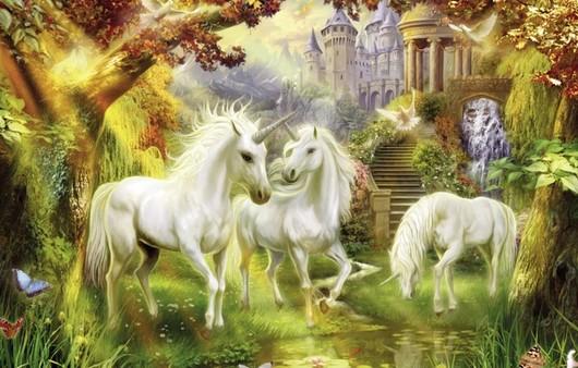 Картина фантастических лошадей