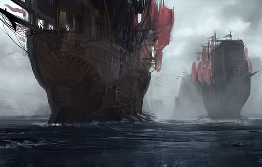 Живопись корабли с парусами