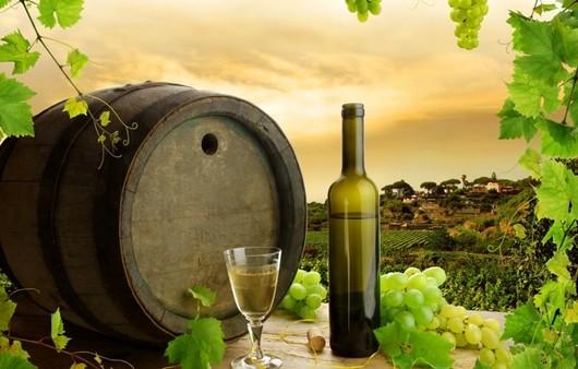 Фотообои Бочковое вино