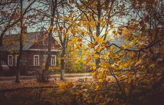Фотообои Осенние улочки старых городов