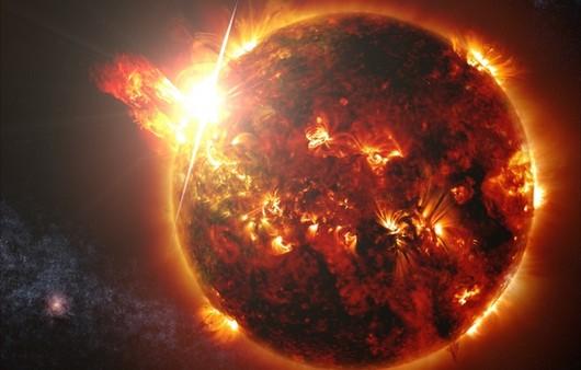 Планета Солнце вид вблизи
