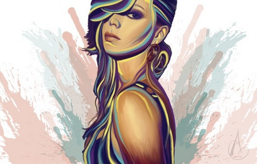 Арт картинка девушки