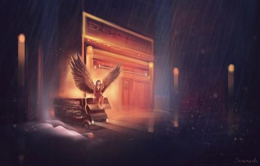 Арт картина девушка-ангел
