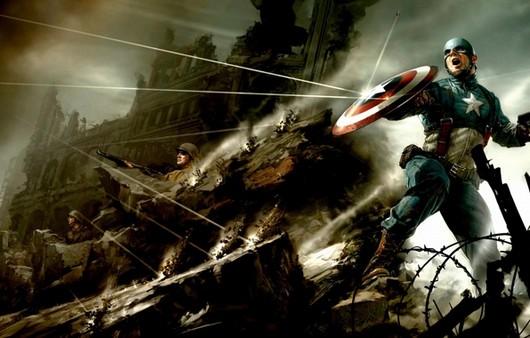 Супергерой капитан из комикса