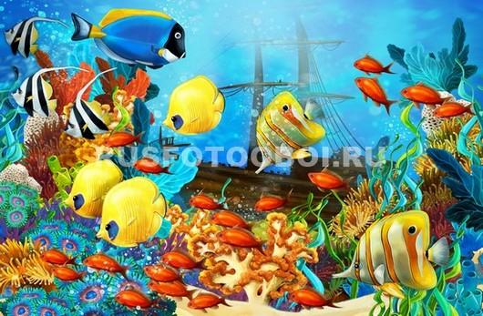 Фотообои Мультяшные рыбки