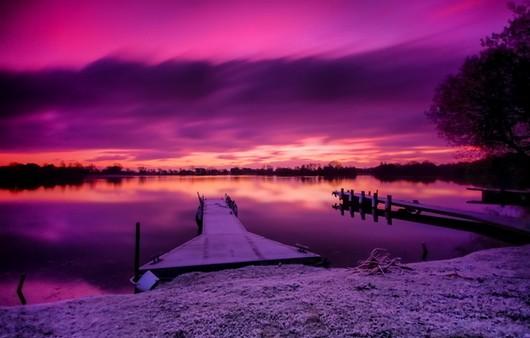 Фотообои Ночной пейзаж озера