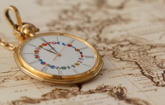 Часы на карте