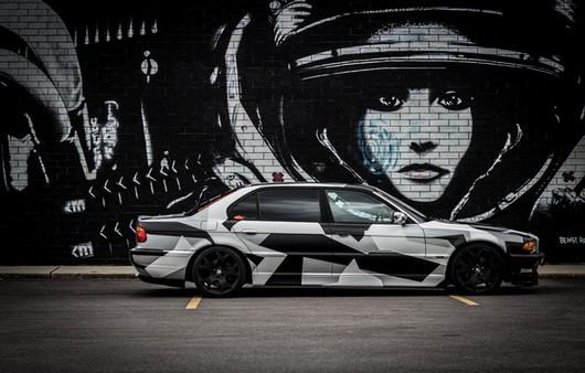 BMW e38 arctic camo