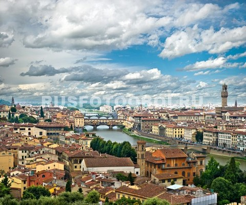 Флоренция вид сверху