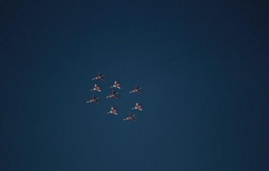 Фигура в небе самолётов стрижей
