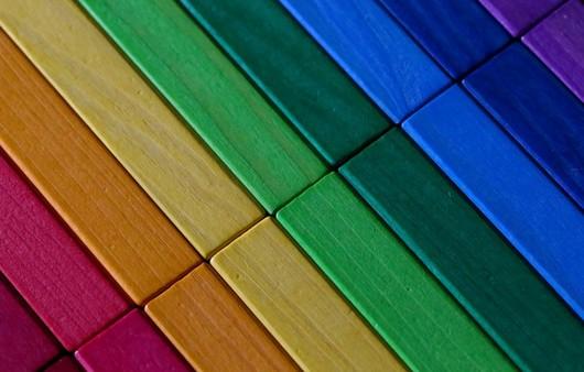 Текстура разноцветных дощечек
