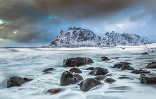 Фотообои Пейзаж пляжа утекай в вествогёй