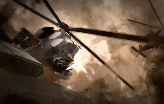 Арт вертолёты в небе