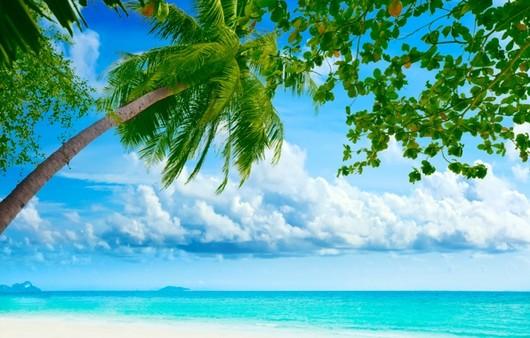 Лёгкие воздушные облака над пляжем