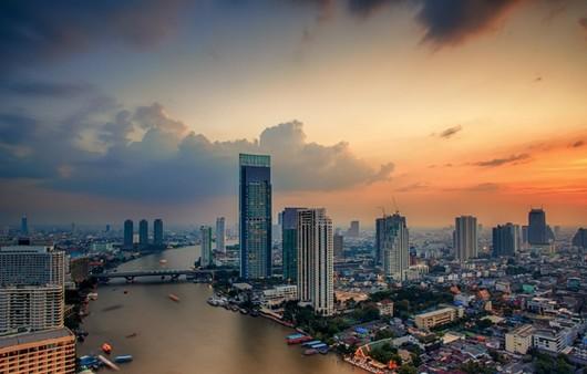 Город Бангкок,вид сверху