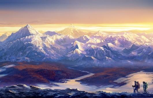 Покорители гор,туристы-альпинисты