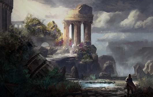 Картина заброшенного храма