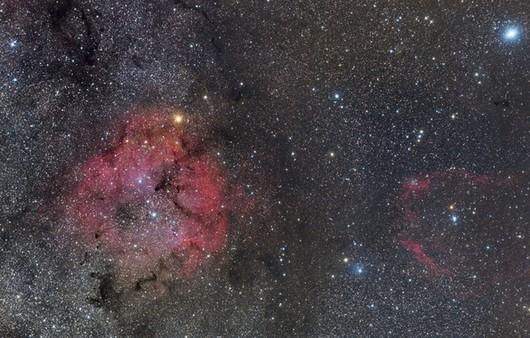 Космическое скопления планет,туманности в Цефее