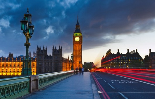 Лондонская улица ночью