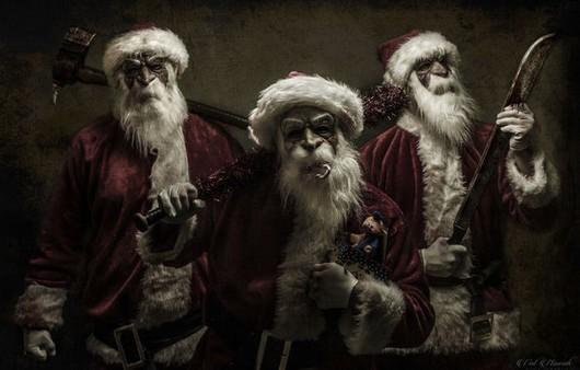 Фотообои Санта Клаусы с оружием