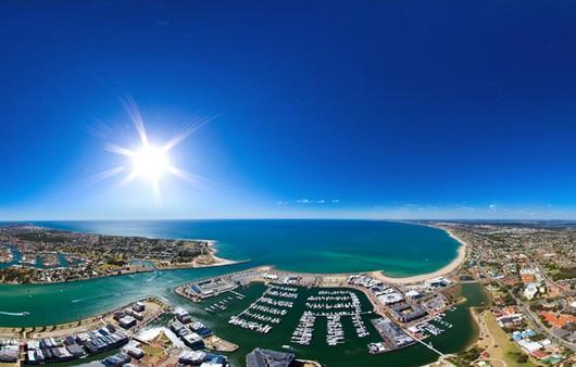 Австралийское жаркое солнце
