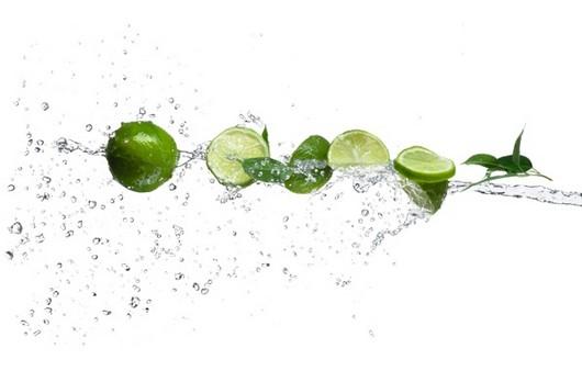 Фотообои Абстракция воды и лимона лайм